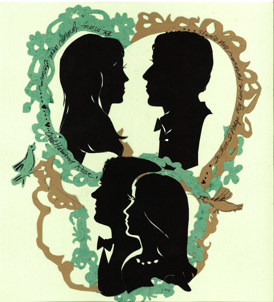 Wedding silhouettes by Cindi Rose
