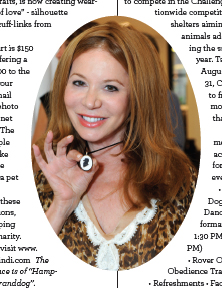 """The pictured necklace is of """"Hampton"""", Cindi's """"granddog""""."""