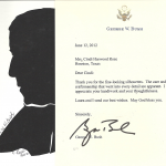 George Bush Thank You Letter