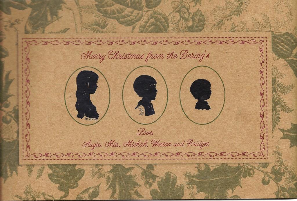 Christmas Silhouette Art Card by Cindi Rose