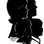 Cindi Rose is one of the few silhouette artists in the world who can do groupings