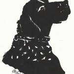 Pet silhouettes can be done by Cindi from e-mailed profile photos.