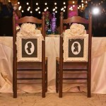 Bride and Groom silhouette table by Cindi