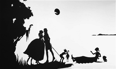 "Silhouette by Kara Walker ""My Complement, My Enemy, My Oppressor, My Love"""