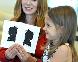 Have silhouette artist Cindi Rose create a keepsake to be treasured - children do not have to sit still