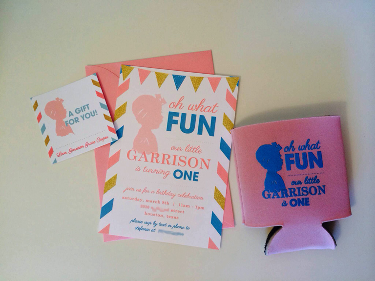 Cutest silhouette birthday invitations designed by Stefanie using Silhouette Art by Cindi