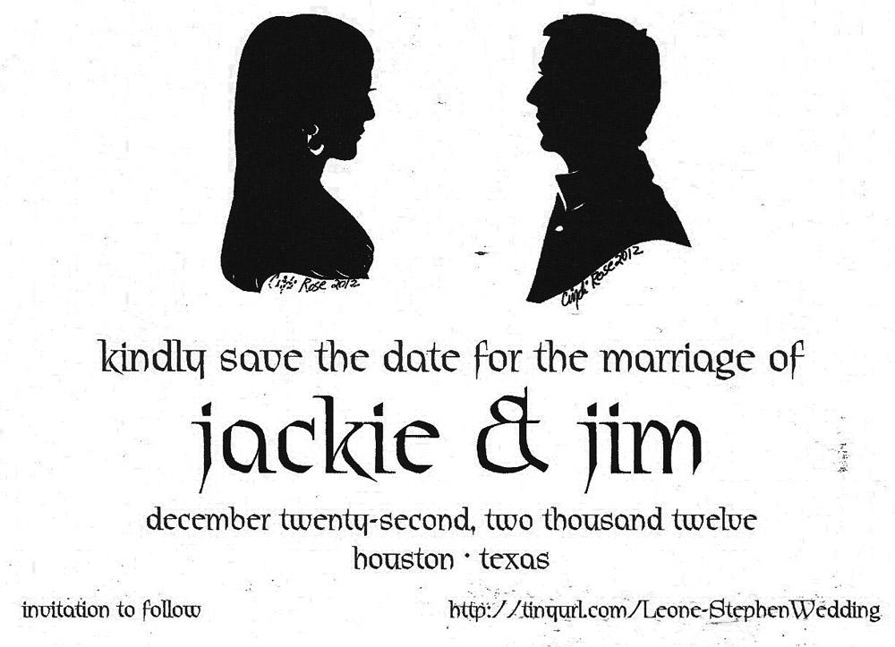 Silhouette Art Wedding invitation