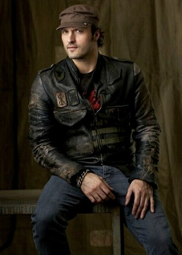 Director Robert Rodriguez in a Junker Designs Jacket