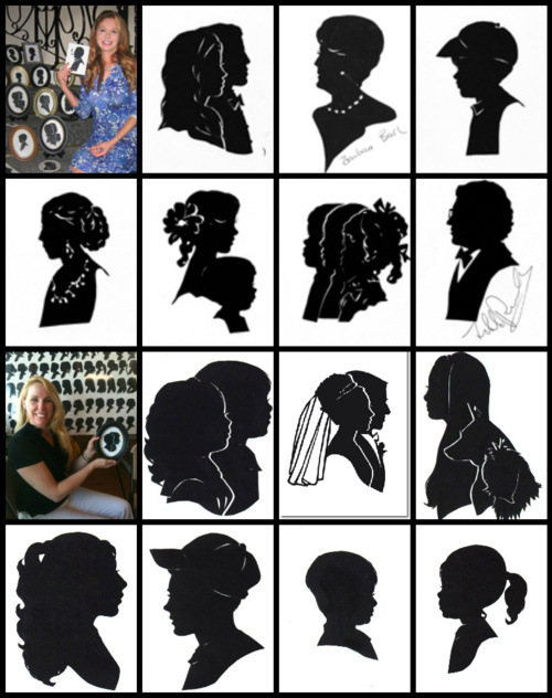 Silhouette art and artists Cindi Rose & Kathryn Flocken