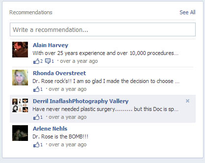 Facebook recommendations and reviews for Dr. Franklin Rose - please add your own!
