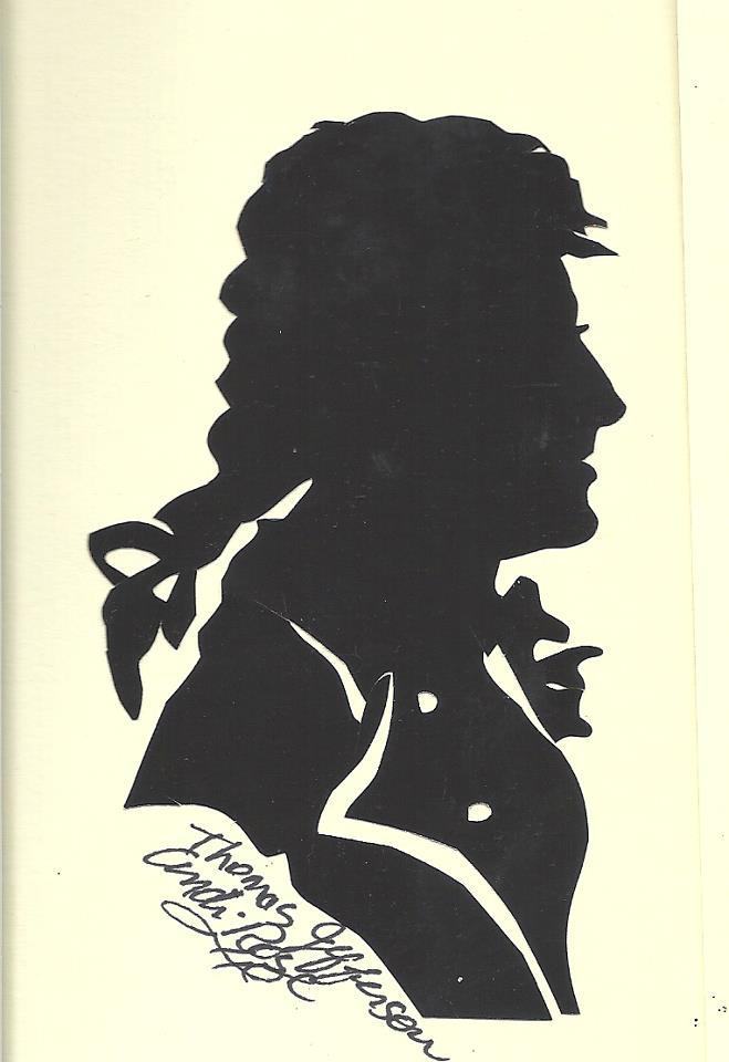 President Thomas Jefferson Silhouette