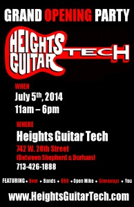 Heights Guitar Tech Celebrated its arrival with a Star-Studded Grand Opening Party on July 5th, 2014