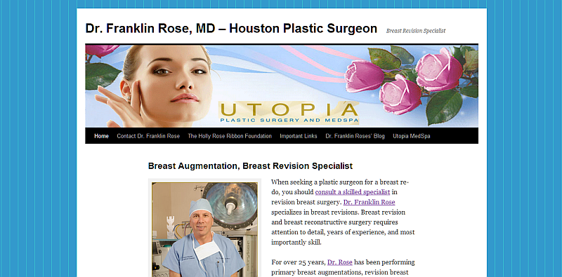 Dr. Franklin Rose Board Certified Plastic Surgeon