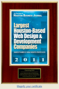 Awards : Charming Web Top 25 Web Developer